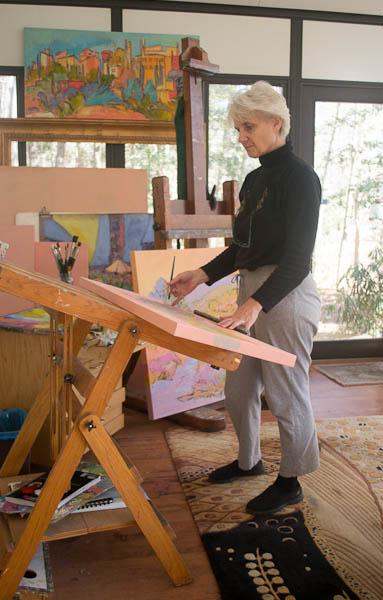 SEE DOROTHY FAGAN'S UNIQUE WORKS ON UN-STRETCHED CANVAS