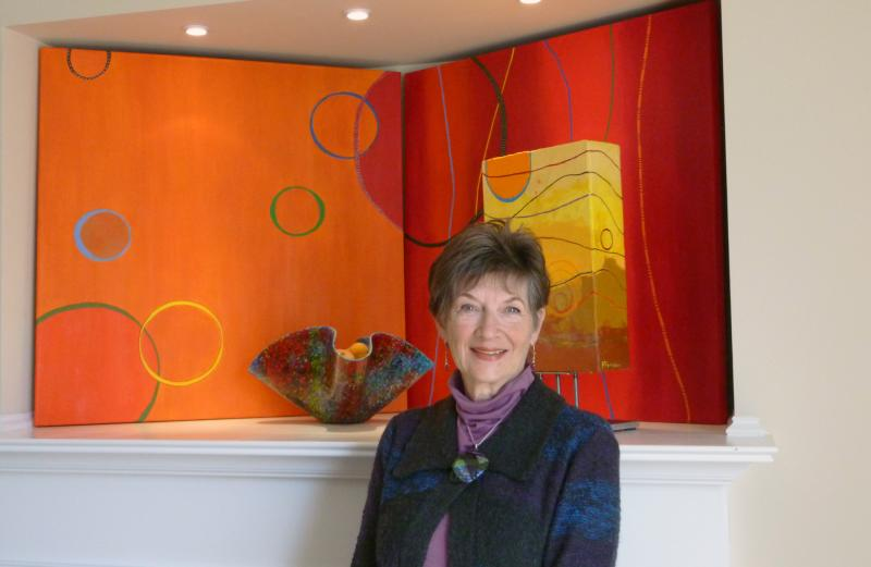 PATRICIA GERKIN'S  newest works in encaustic are powerful.